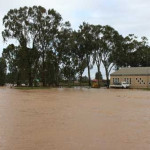 The village of Nieuwoudtville in the Northern Cape, flooded in July 2007
