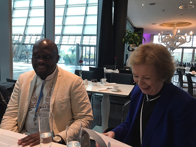 Makgale Pokwane and Mary Robinson in Bonn