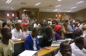 The packed auditorium at the University of Johannesburg [Source: Felix Donkor]